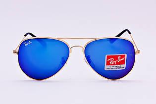 Солнцезащитные очки копия RB Aviator Deep Ocean