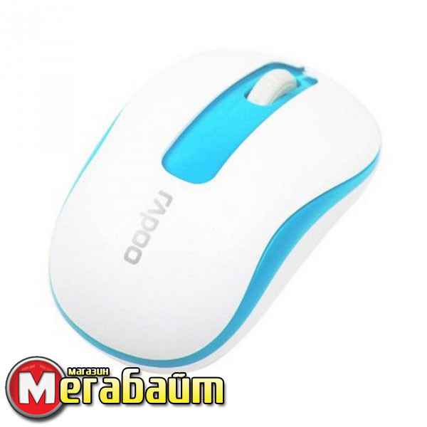 Мышь Rapoo M10 Wireless Optical Mouse White-Blue
