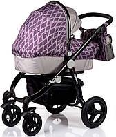 Детская Универсальная коляск 2 в 1 Babyhit Valente Violet Grey  - прогулочный блок + люлька - Трансформер