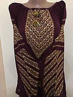 Жіноча блуза вишита хрестиком на шифоні