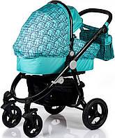 Детская Универсальная коляск 2 в 1 Babyhit Valente Golden Marine  - прогулочный блок + люлька - Трансформер