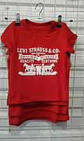 Стильная летняя футболка, детская футболка, 92-116 см