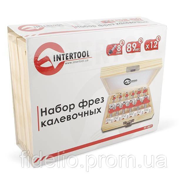 Набор фрез калевочных в деревянном кейсе INTERTOOL HT-0077