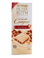 Белый шоколад Moser Roth Chocolat Compose Weisse Mandel с миндалем, 125 гр., фото 1