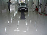 Наливные полы для СТО и автомойки.