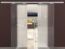 Двойные раздвижные стеклянные двери