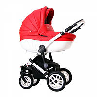 Детская Универсальная коляск 2 в 1 Babyhit Retrus AVENIR Reb White  - прогулочный блок + люлька
