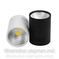 Светильник Downlight светодиодный LED накладной COB 20W  4200К  черный, фото 2