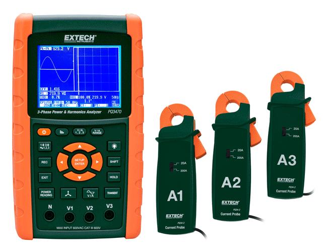 Комплект клещей-пробников для анализатора кач-ва электроэнергии нализатора качества эл.энергии Extech PQ3470 - «IPS» — контрольно измерительные приборы: газоанализаторы, тепловизоры, мультиметры, осциллографы в Одессе