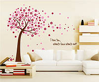 Інтер'єрна наліпка на стіну Дерево навесні / Интерьерная наклейка (стикер) на стену Дерево весной (AY9026A)