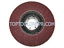 Круг зачисной лепестковый по металлу metabo 125 P80, фото 2