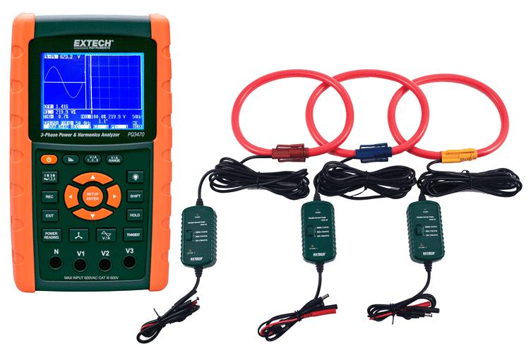 Анализатора качества электроэнергии Extech PQ3470-30 3000A, комплект: Extech PQ3470 c Extech PQ34-30 - «IPS» — контрольно измерительные приборы: газоанализаторы, тепловизоры, мультиметры, осциллографы в Одессе