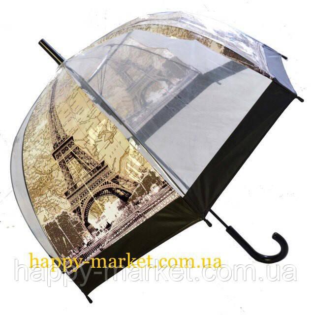 Зонт Для подростка трость полуавтомат Париж  2203-2