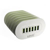 USB Хаб Hub LDNIO A6702 на 6 портов сетевой *2005