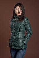 Женская демисезонная куртка, темно зеленый, 42-56 размеры