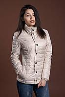 Женская демисезонная куртка, молочный, 42-56 размеры
