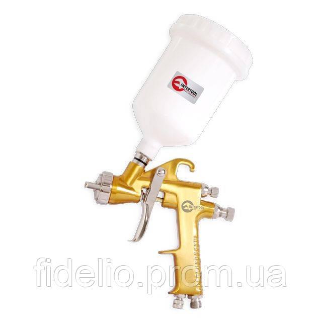 Краскораспылитель пневматический HVLP BRONZE PROF INTERTOOL PT-0113