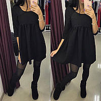 Платье с завышеной талией, черное