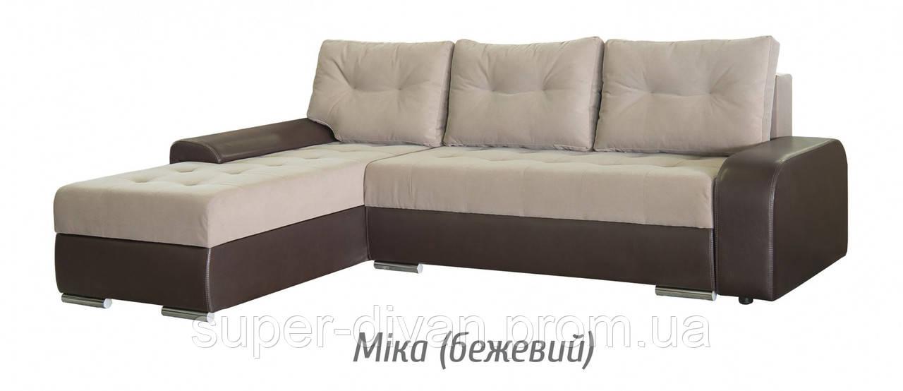 Угловой диван Женева (Мика бежевый)