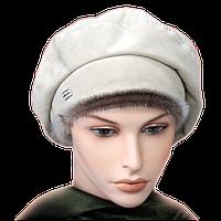 Женская шапка замша берет