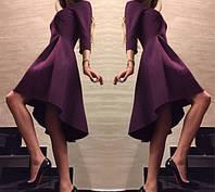 """Платье с """"хвостом"""", бордовое"""
