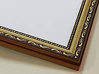 РАМКА  30х40.25 мм.Золото яркое с орнаментом.Для фото,дипломов,картин.