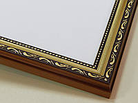 РАМКА А4 (297х210).25 мм.Золото яркое с орнаментом.Для фото,дипломов,картин.