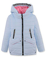 Куртка ДЕМИ на девочку, голубая, р.122-140