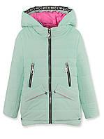 Куртка ДЕМИ на девочку,мята, р.122-140