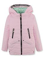 Куртка ДЕМИ на девочку, розовая, р.122-140