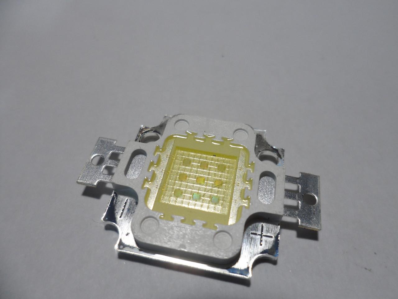Светодиод 10W 20000K 9-12V светодиод 20000К для аквариумов led aqua