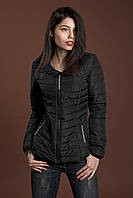Женская демисезонная куртка, черный, 42-48 размеры