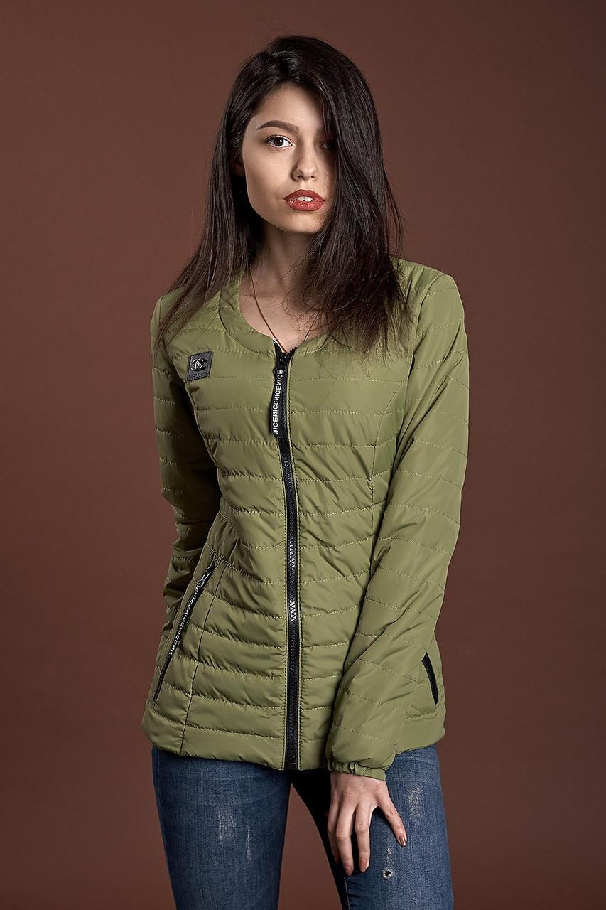 Женская демисезонная куртка, оливковый, 42-48 размеры