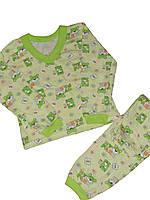 Пижама легкая детская Мишки на ферме, хлопок, кулир, р.р.26-34