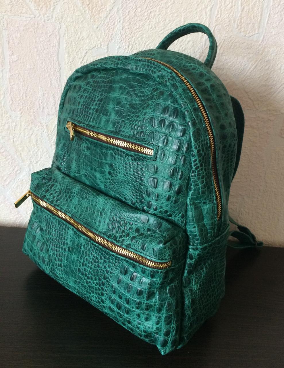 Женские сумки среднего размера зеленые кожаные