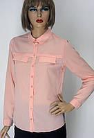 жіноча класична розова  блуза-сорочка Keten
