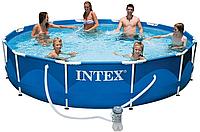 Каркасный бассейн Metal Frame 3,66х0,76м с насосом 2м3/ч Intex 28212, фото 1