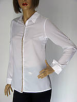 Жіноча класична біла блузка Kristina