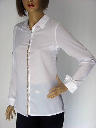 Жіноча класична біла блузка Kristina, фото 2