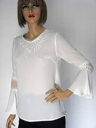Біла нарядна шифонова блузка  Siradasi , фото 2