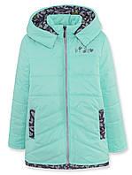 Куртка ДЕМИ на девочку, бирюза, р.110,116,122