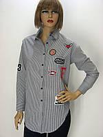 Блузка-рубашка в полоску с принтами Bebe plus