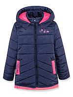 Куртка ДЕМИ для девочки, синяя, р.92,98,104