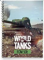 Блокнот Тетрадь FCM 50t, World Of Tanks 1 (фцм, Танки, танчики, WOT)