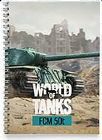 Блокнот Тетрадь FCM 50t, World Of Tanks 3 (фцм, Танки, танчики, WOT)