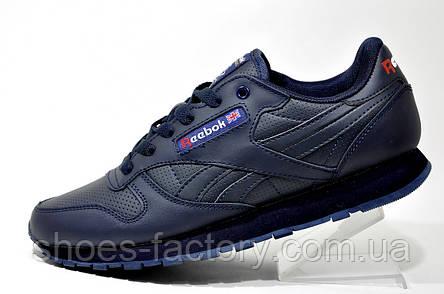 Кроссовки мужские в стиле Reebok Classic Leather, Dark Blue, фото 2