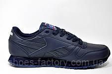 Кроссовки мужские в стиле Reebok Classic Leather, Dark Blue, фото 3