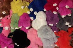 21 цвет!!! Меховой зайчик / меховой кролик / брелок-кролик / 21 цвет