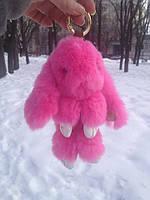 Кролик брелок розовый / зайчик на сумку / кролик на сумку