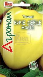 Томат Бычье Сердце Желтый, 30шт Агроном